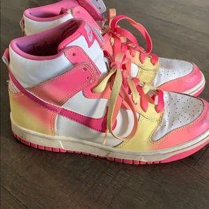 Custom Nike High Tops - Size 7.5 (5Y)
